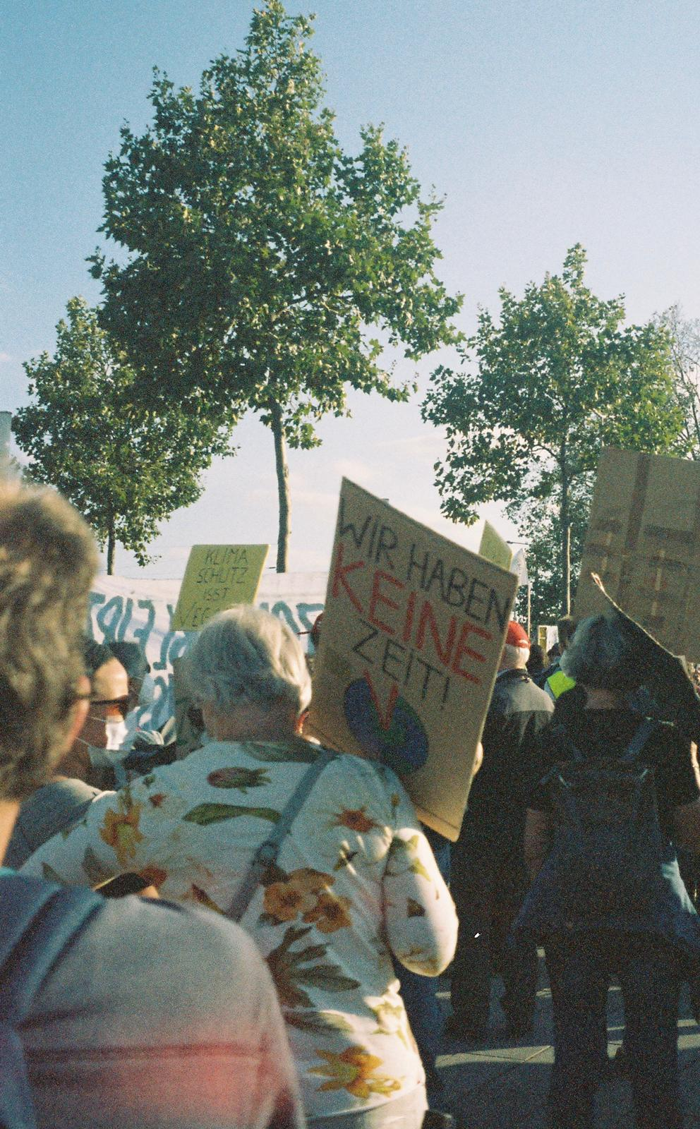 Picture taken by Emma Gallagher, Fridays For Future protest Mannheim